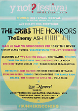 YNOT Poster 2013 Music Festival A3 Original New CRIBS Horrors Enemy Ash PSB