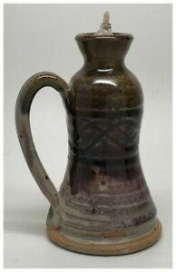 Potter's Lamp by Nichols Pottery Seagrove NC cranberry glaze