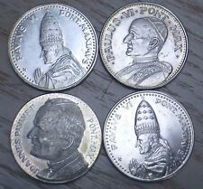 Lot 4 Italy Roma Vintage Pope Silver Souvenir Medal's