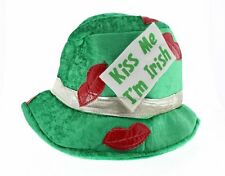 St. Patrick's Day Kiss Me I'm Irish Fedora Hat Costume Accessory