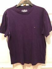 Tommy Hilfiger Vintage Rundhals Basic T-Shirt T Shirt Lila Gr. S 100% Baumwolle
