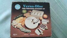 New listing Vtg General Electric Ge Versa Disc Food Processor Accessory Kit Ad-1 W/ Box