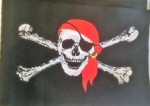 Pirate Skull & Cross Bones Fabric Bunting birthday wholesale Free 1st Class Post