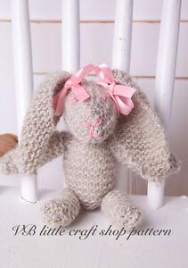 Rabbit soft toy knitting pattern. Quick knit! Easy pattern!