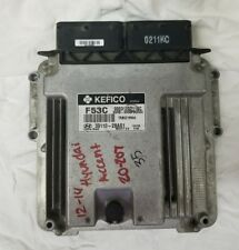 2012 13 14 HYUNDAI ACCENT OEM ENGINE COMPUTER MODULE 39110-2BAS1 [CHECK PART#]