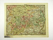 BRAUNSCHWEIG THÜRINGEN LÜNEBURG ALTKOL KUPFERSTICH KARTE LOTTER 1762 AD #D916S