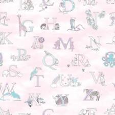G56538 - Just 4 Enfants 2 Lettres, Animaux Rose Galerie Papier Peint