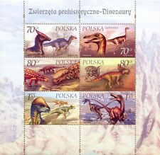 POLEN 2000 Klb Dinosaurs (miniature sheet)(2000; Nr kat.:3665-3670)