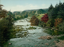 Stepford. River Cairn. Vintage photochrome, England photochromie, vintage phot