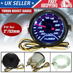"52mm 2"" Car Turbo Boost Pressure Pointer Gauge Meter Dials LED Vacuum UK New"