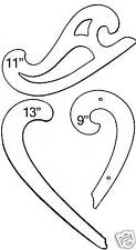 French Curve Drafting, Drawing Curves Ruler set of 3 US