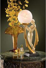 Art Deco Elegant Nude Mademoiselle Lamp Illuminated Sculpture