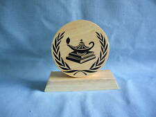 large round KNOWLEDGE Award  trophies wood party favor