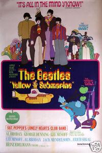 The Beatles yellow submarine #4 movie poster print