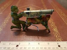 1940's MARX TIN LITHO 3D WWI MACHINE GUN SOLDIER WIND UP CLICKER TIN TOY LOT