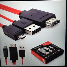 Mobile turn HDMI mhl to hdmi Cable TV Audio Conversion Line For Cellphone NEW