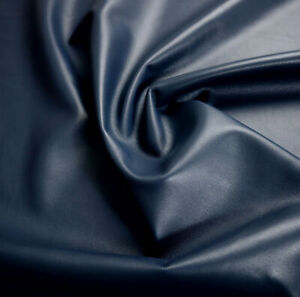 Navy Soft Lamb Napa Leather Hide 0.7 mm Beautiful Smooth Whole Skins 32-54 SQ FT