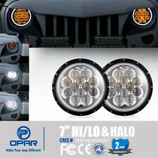 2x 7 Inch Cree LED Projector Headlight w/Amber DRL For Jeep Wrangler 97-17 TJ JK
