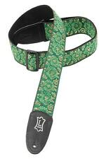 Levy's Leathers M8AS-GRN Asian Print Jacquard Guitar Strap,Green