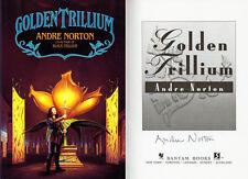 Grand Master Andre Norton SIGNED AUTOGRAPHED Golden Trillium HC 1st Ed/1st Print