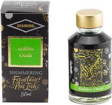 Diamine Fountain Pen Bottled Ink, 50ml - Shimmering Golden Oasis
