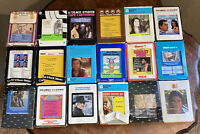 Vintage 8 Track Tapes Lot of 18 Country Loretta Lynn Conway Twitty Nat King Cole