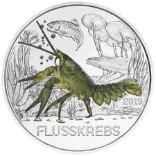 Österreich - 3 Euro - Der Flusskrebs (12.) - Tier-Taler-Serie - 2019 Handgehoben