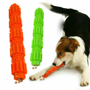 Durable Dog Chew Toys Rubber Bone Toy For Aggressive Chewers Indestructible NEW#