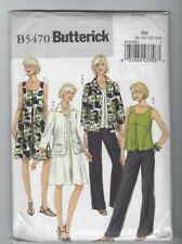 NEW BUTTERICK 5470 MISSES JACKET TOP DRESS PANTS PATTERN SZ 8-14 UNCUT FF