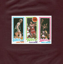 1980-81 Topps MAGIC JOHNSON LARRY BIRD rookie card *MINT CARD* *NO CREASES* WOW