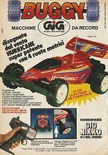X4002 Buggy macchine da record - GIG - Pubblicità 1988 - Advertising