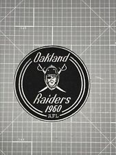 OAKLAND RAIDERS JERSEY PATCH 1960 AFL SILVER, BLACK & WHITE IRON OR SEW ON NEW