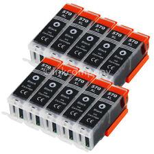 10 Tintenpatrone Druckerpatrone kompatibel zu CANON PGI 570 XL BK black mit Chip