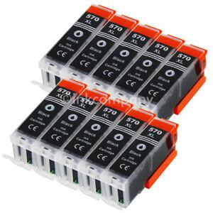 10 Tintenpatrone Druckerpatrone kompatibel zu CANON PGI 570 XL BK MG5750 TS5050