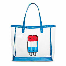 Mossimo Women's Popsicle Ices Print Jelly Tote Handbag Beach Clear/Blue