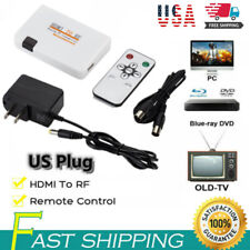 Hdmi To Rf Coaxial Converter Box Tv Transmitter Modulator w/ Remote Control Usa
