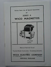 Wico Magnetos Series A Service Parts & Special Instructions