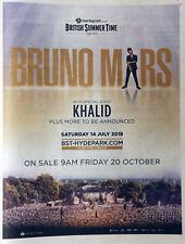 BRUNO MARS HYDE PARK LONDON JULY 2018  CONCERT FULL PAGE ADVERT - KHALID