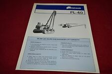 Fiat Allis Chalmers PL-40 Pipelayer Dealer Brochure YABE11 ver55