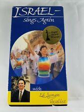 ISRAEL-SINGS AGAIN w/Ed Lyman Vocalist VHS Video Angel Award Winner 1991