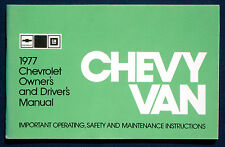 Owner's Manual * Betriebsanleitung 1977 Chevrolet Chevy Van (USA)