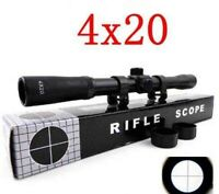 4X20 AIR RIFLE SCOPE SIGHT AIR GUN 22 MAG SHOOTING LIGHT WEIGHT OPTICS