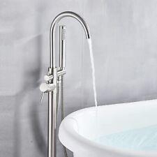 Modern Brushed Nickel Free Standing Bathtub Faucet Tub Filler Faucets Bathroom