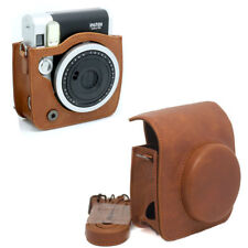 For Fujifilm Instax Mini 90 NEO Classic Camera PU Leather Case Bag Cover + Strap