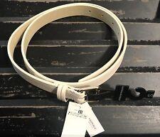 BANANA REPUBLIC Women's Vegan Faux Leather Belt Size S Cream Ivory White NWT