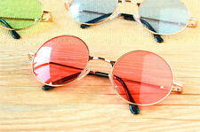 Colorful Women Retro Round Glasses Lens Sunglasses Eyewear Plastic Frame Glasses