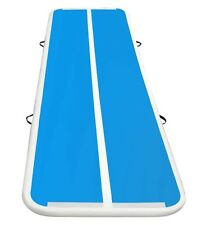 10 ft Air Track Blue White Inflatable Gymnastic Tumbling Exercise Mat AirTrack