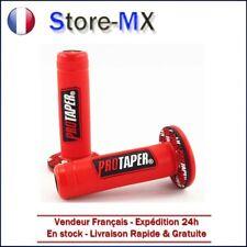 Paire de poignées Pro Taper Rouge pour Moto-cross quad dirt bike enduro