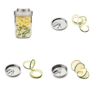 3 In 1 Stainless Steel Spiralizer For Wide Mouth Mason Jars