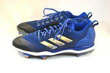 Men's Adidas Blue Power Alley 5 Low Metal Baseball Cleats sz.14